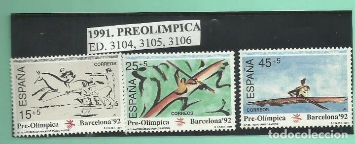 3 SELLOS 1991. IV SERIE PRE OLÍMPICA (Sellos - España - Juan Carlos I - Desde 2.000 - Nuevos)