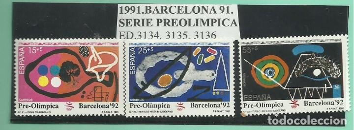 1991. SERIE PRE OLÍMPICA (Sellos - España - Juan Carlos I - Desde 2.000 - Nuevos)