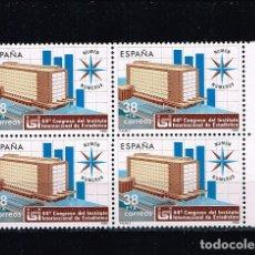 Sellos: ESPAÑA 1983 - EDIFIL 2718** - 44º CONGRESO DEL INSTITUTO INTERNACIONAL DE ESTADÍSTICA - BLOQUE DE 4. Lote 174245532