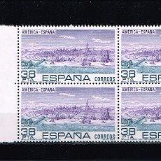 Sellos: ESPAÑA 1983 - EDIFIL 2720** - AMÉRICA-ESPAÑA - SERIE COMPLETA EN BLOQUE DE 4 SELLOS. Lote 175066823