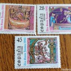 Sellos: ESPAÑA : N°3252/54MNH,AÑO SANTO JACOBEO, 1993. Lote 194510032