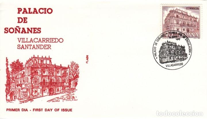 SOBRE: 1987 VILLACARRIEDO ( SANTANDER ). PALACIO DE SOÑANES (Sellos - España - Juan Carlos I - Desde 1.975 a 1.985 - Cartas)