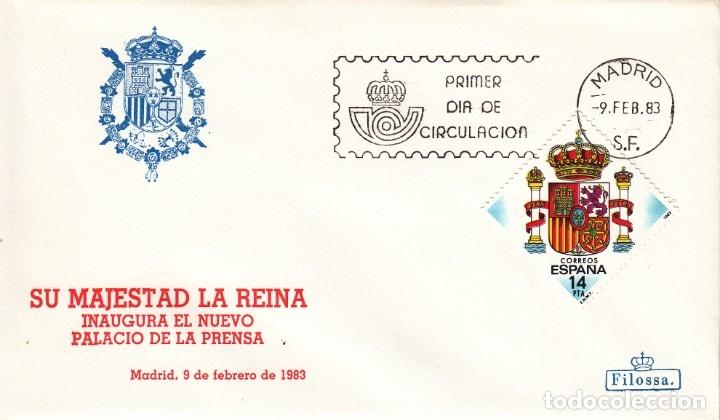 SOBRE: 1983 MADRID. SU MAJESTAD LA REINA INAGURA EL NUEVO PALACIO DE LA PRENSA (Sellos - España - Juan Carlos I - Desde 1.975 a 1.985 - Cartas)