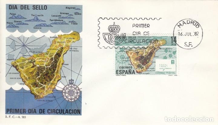 SOBRE: 1982 MADRID. DIA DEL SELLO (Sellos - España - Juan Carlos I - Desde 1.975 a 1.985 - Cartas)