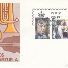 Sellos: SOBRE: 1982 MADRID. MAESTROS DE LA ZARZUELA. Lote 175192442