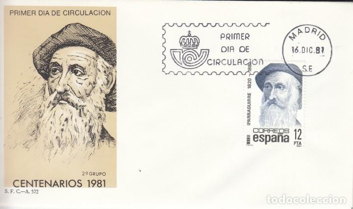 SOBRE: 1981 MADRID. CENTENARIOS - IPARRAGUIRRE (Sellos - España - Juan Carlos I - Desde 1.975 a 1.985 - Cartas)