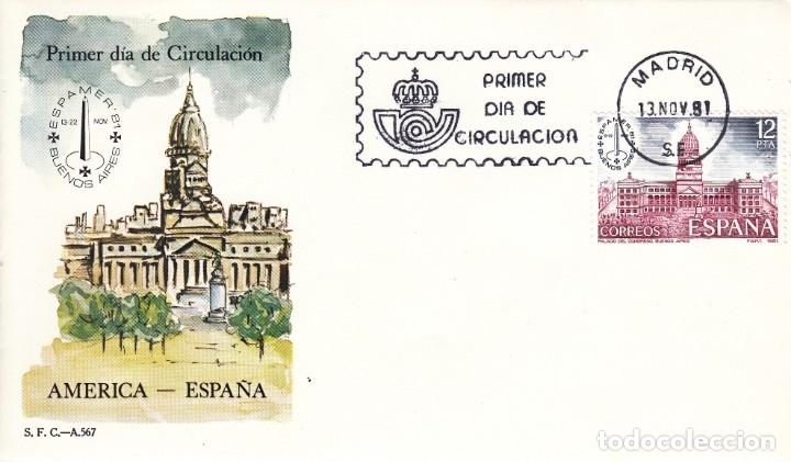 SOBRE: 1981 MADRID. AMERICA - ESPAÑA (Sellos - España - Juan Carlos I - Desde 1.975 a 1.985 - Cartas)