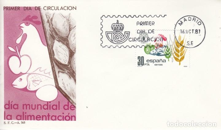 SOBRE: 1981 MADRID. DIA MUNDIAL DE LA ALIMENTACION (Sellos - España - Juan Carlos I - Desde 1.975 a 1.985 - Cartas)