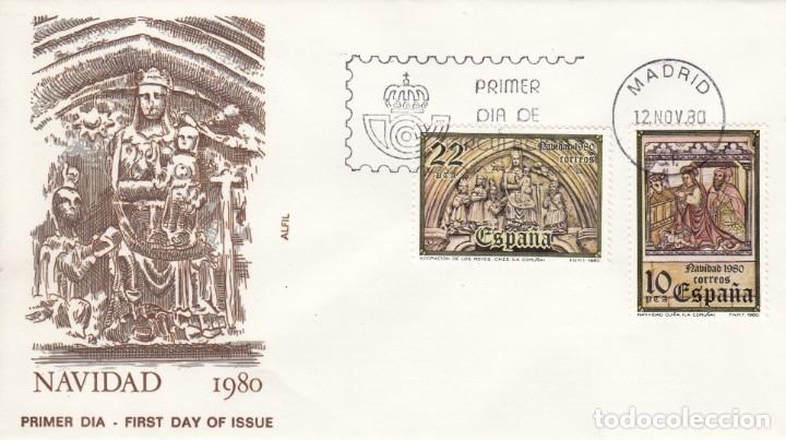 SOBRE: 1980 MADRID. NAVIDAD (Sellos - España - Juan Carlos I - Desde 1.975 a 1.985 - Cartas)