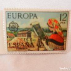 Sellos: SELLO 12 PTA. EUROPA. ENCAJE DE CAMARIÑAS. NUEVO.. Lote 175326810