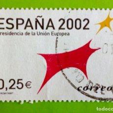 Sellos: SPAIN 2002, PRESIDÊNCIA DE LA UNION EUROPEA.USED. Lote 175834535