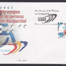 Sellos: 2003 - AÑO EUROPEO PERSONAS CON DISCAPACIDAD SPD EDIFIL Nº 3985. Lote 175906780