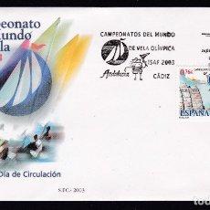 Sellos: 2003 - CAMPEONATO DEL MUNDO DE VELA OLÍMPICA SPD EDIFIL Nº 4014. Lote 175907210