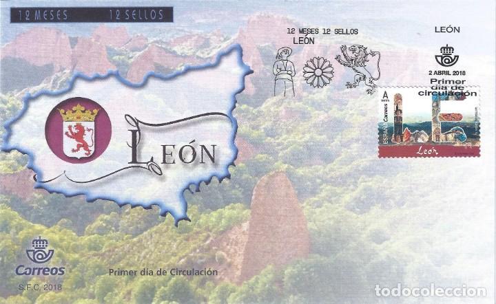 CATEDRAL DE LEON 2018 (VARIEDAD...IMAGEN DE BURGOS EN LUGAR DE LEÓN ). SOBRE PRIMER DÍA 02-04-2018. (Sellos - España - Juan Carlos I - Desde 2.000 - Nuevos)