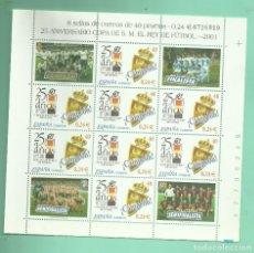 Sellos: HB 2001. 25 ANIVERSARIO COPA DEL REY. 8 SELLOS DE 0,24 EUROS. 30% DESCUENTO. Lote 183577658