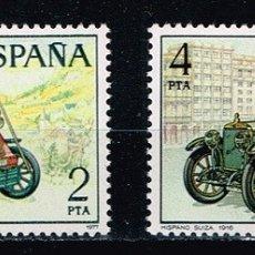 Sellos: ESPAÑA 1977 - EDIFIL 2409/12** - AUTOMÓVILES ANTIGUOS ESPAÑOLES. Lote 176698483