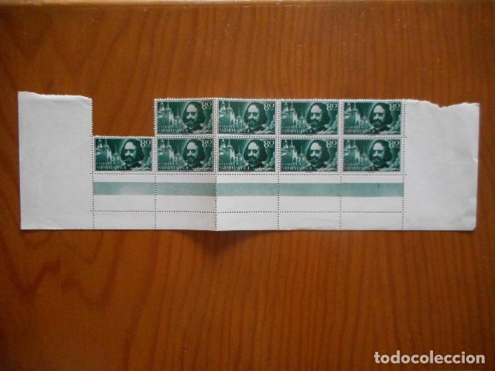 Sellos: Cuatro bloques de 9 sellos. Sahara Español. Pro Infancia. Quevedo. 1960. Edifil 172 a 175. Ver fotos - Foto 2 - 177064324