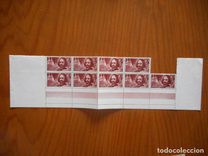 Sellos: Cuatro bloques de 9 sellos. Sahara Español. Pro Infancia. Quevedo. 1960. Edifil 172 a 175. Ver fotos - Foto 3 - 177064324