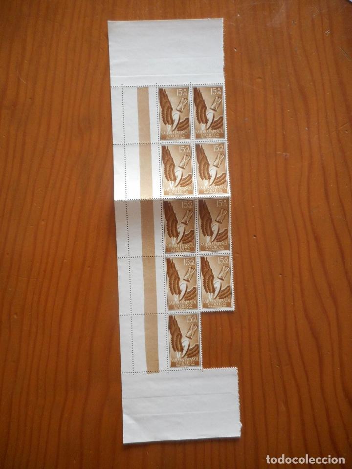 Sellos: Cuatro bloques de 9 sellos. Sahara Español. Pro Infancia. Quevedo. 1960. Edifil 172 a 175. Ver fotos - Foto 5 - 177064324