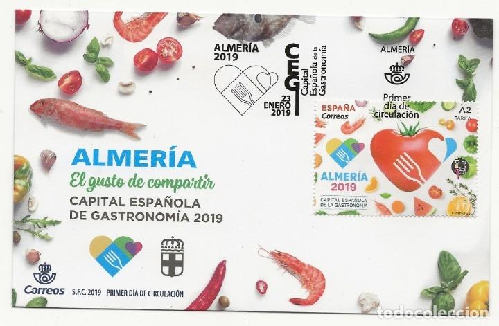 CAJA P5.G2 / ESPAÑA S.P.D. CAPITAL ESPAÑOLA DE GASTRONOMIA 2019, ALMERIA (Sellos - España - Juan Carlos I - Desde 2.000 - Cartas)