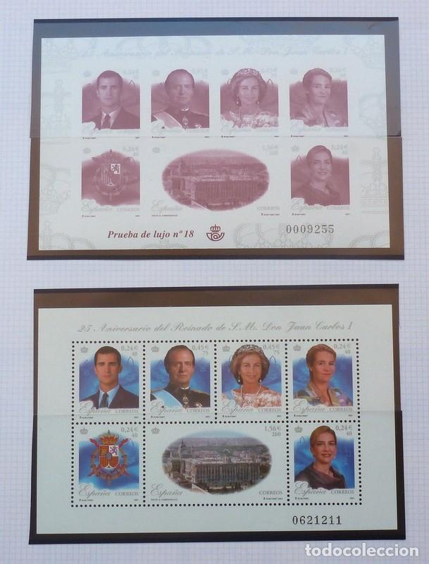 SELLOS ESPAÑA 22- FOTO 795 - BLOQUE Y PRUEBA OFICIAL Nº 18 (Sellos - España - Juan Carlos I - Desde 2.000 - Nuevos)