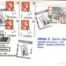 Sellos: SOBRE: 1991 SANT FELIU DE GUIXOLS. ASSOCIACIO FILATELICA. Lote 204122083
