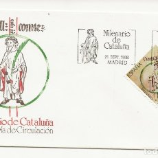 Sellos: CAJA_P5/ ESPAÑA, S.P.D. 1988, MILENARIO DE CATALUÑA. Lote 177396867