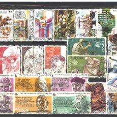 Sellos: ESPAÑA 1986 - 7 SERIES DIFERENTES - USADAS. Lote 177796370