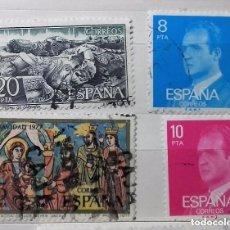 Sellos: ESPAÑA 1977, 4 SELLOS USADOS DIFERENTES. Lote 177859415