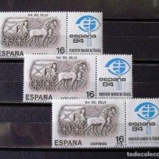 Sellos: 2719, TRES SERIES NUEVAS, SIN CH. SELLO.. Lote 177861315