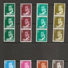 Selos: ESPAÑA. JUAN CARLOS I. TRIPTICOS PARA MAQUINAS EXPENDEDORAS CON NUMERACION EN EL REVERSO. Lote 177897754