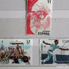 Sellos: ESPAÑA 1986, 3 SELLOS USADOS DIFERETES. Lote 177970879