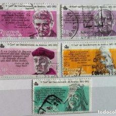 Sellos: ESPAÑA 1986, SERIE V CENTENARIO DESCUBRIMIENTO AMÉRICA INCOMPETA. Lote 177970963