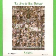 Timbres: EDIFIL 3595 H.B. (3593-3594). LA SEO DE SAN SALVADOR DE ZARAGOZA. (1998).** NUEVO SIN FIJASELLOS.. Lote 178029540