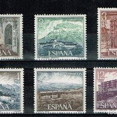 Sellos: ESPAÑA 1976 - EDIFIL 2334/39** - SERIE TURÍSTICA, PARADORES NACIONALES. X GRUPO. Lote 178112285