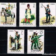 Sellos: ESPAÑA 1976 - EDIFIL 2350/54** - UNIFORMES MILITARES. VI GRUPO. Lote 178112517