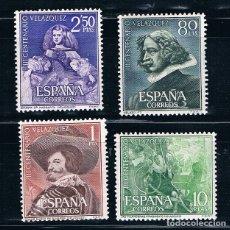 Sellos: ESPAÑA 1961 CENTENARIO MUERTE DE VELAZQUEZ EDIFIL 1340-1343** MNH VER FOTOS. Lote 178238627