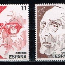 Sellos: ESPAÑA 1986 - EDIFIL 2853/56** - PERSONAJES. Lote 178285880