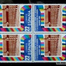 Sellos: SELLOS ESPAÑA 1980- FOTO 682 -Nº 2592 , BL.4 SELLOS, NUEVO. Lote 178330476
