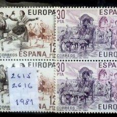 Sellos: SELLOS ESPAÑA 1981- FOTO 689- Nº 2615, BL 4 SELLOS, COMPLETA,NUEVO. Lote 178332712