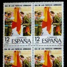 Sellos: SELLOS ESPAÑA 1981- FOTO 690- Nº 2617, BL 4 SELLOS, NUEVO. Lote 178332922