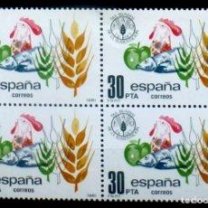 Sellos: SELLOS ESPAÑA 1981- FOTO 694- Nº 2629, BL. 4 SELLOS ,NUEVO. Lote 178334050