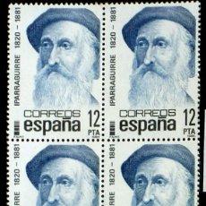 Sellos: SELLOS ESPAÑA 1981- FOTO 706- Nº 2643, BL. 4 SELLOS, NUEVO. Lote 178367917