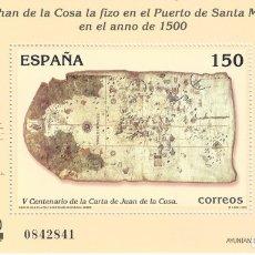 Sellos: EDIFIL 3722 V CENTENARIO DE LA CARTA DE SAN JUAN DE LA COSA 2000. MNH **. Lote 178422787