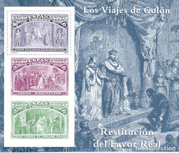 EDIFIL 3209 COLÓN Y EL DESCUBRIMIENTO 1992 (HOJITA). MNH ** (Sellos - España - Juan Carlos I - Desde 1.986 a 1.999 - Nuevos)