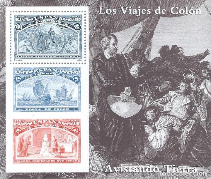 EDIFIL 3206 COLÓN Y EL DESCUBRIMIENTO 1992 (HOJITA). MNH** (Sellos - España - Juan Carlos I - Desde 1.986 a 1.999 - Nuevos)