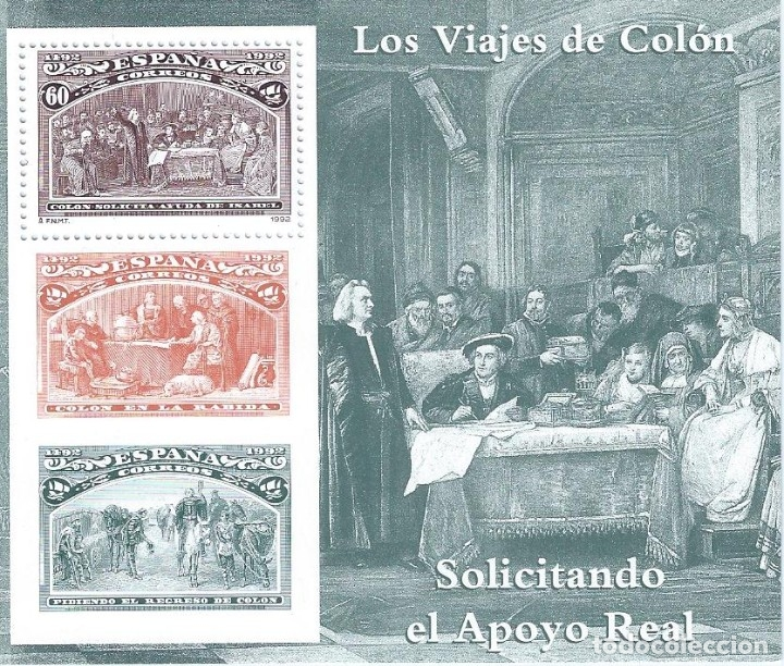 EDIFIL 3205 COLÓN Y EL DESCUBRIMIENTO 1992 (HOJITA). MNH** (Sellos - España - Juan Carlos I - Desde 1.986 a 1.999 - Nuevos)