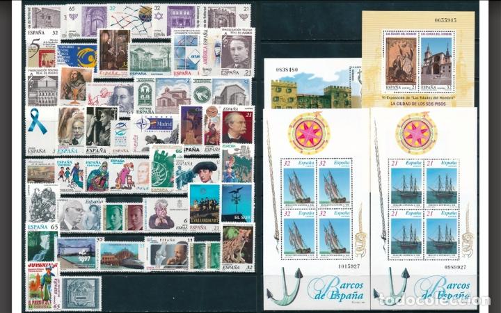 ESPAÑA - 1997 - AÑO COMPLETO 1997 - HOJITAS INCLUIDAS - MNH** - NUEVO - VALOR CATALOGO 48€ (Sellos - España - Juan Carlos I - Desde 1.986 a 1.999 - Nuevos)