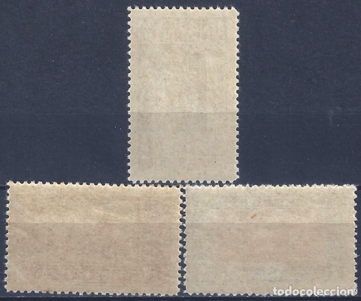 Sellos: EDIFIL 833-835 AÑO JUBILAR COMPOSTELANO 1937 (SERIE COMPLETA). VALOR CATÁLOGO: 162 €. MNH ** - Foto 2 - 178588790