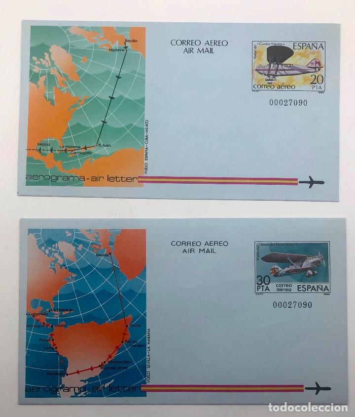 1982 ESPAÑA. AEROGRAMAS (EDIF.203/204) (Sellos - España - Juan Carlos I - Desde 1.975 a 1.985 - Nuevos)